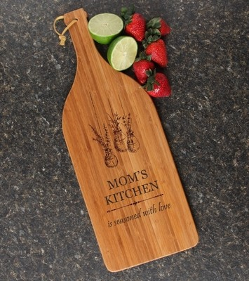 Personalized Cutting Board Engraved Bamboo 16 x 5 DESIGN 37