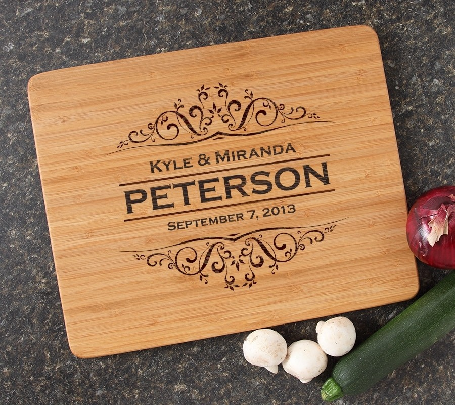 Engraved Bamboo Cutting Board Personalized 15x12 DESIGN 7