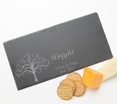 Personalized Slate Cheese Board 15 x 7 DESIGN 18