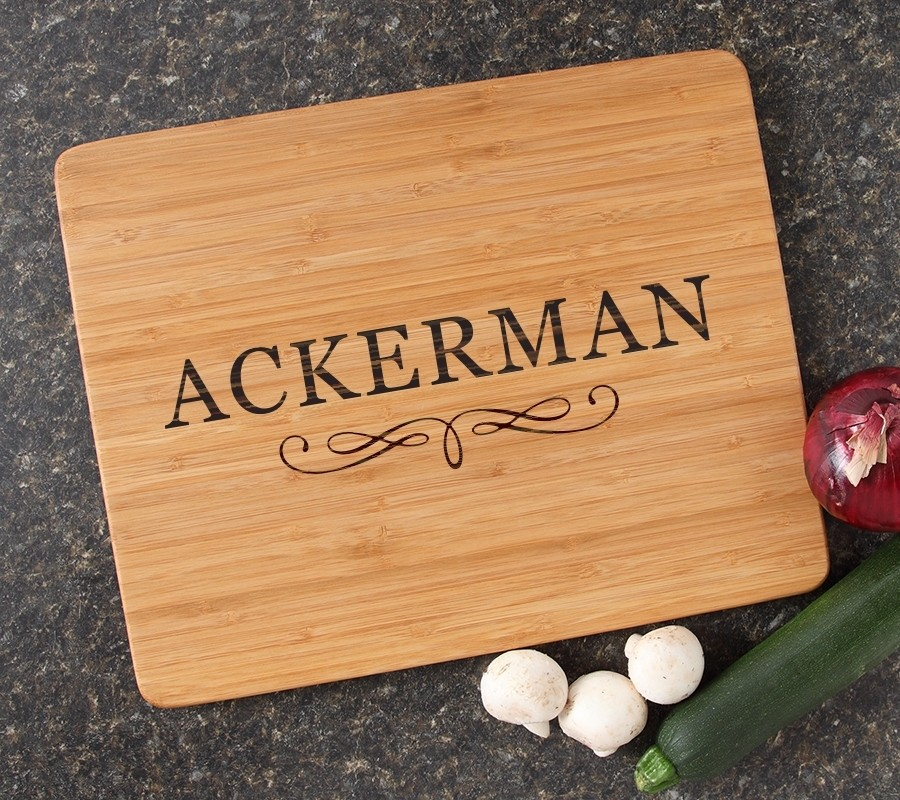 Engraved Bamboo Cutting Board Personalized 15x12 DESIGN 8