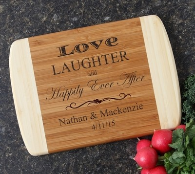 Personalized Cutting Board Custom Engraved 10 x 7 DESIGN 26