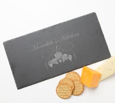 Personalized Slate Cheese Board 15 x 7 DESIGN 40