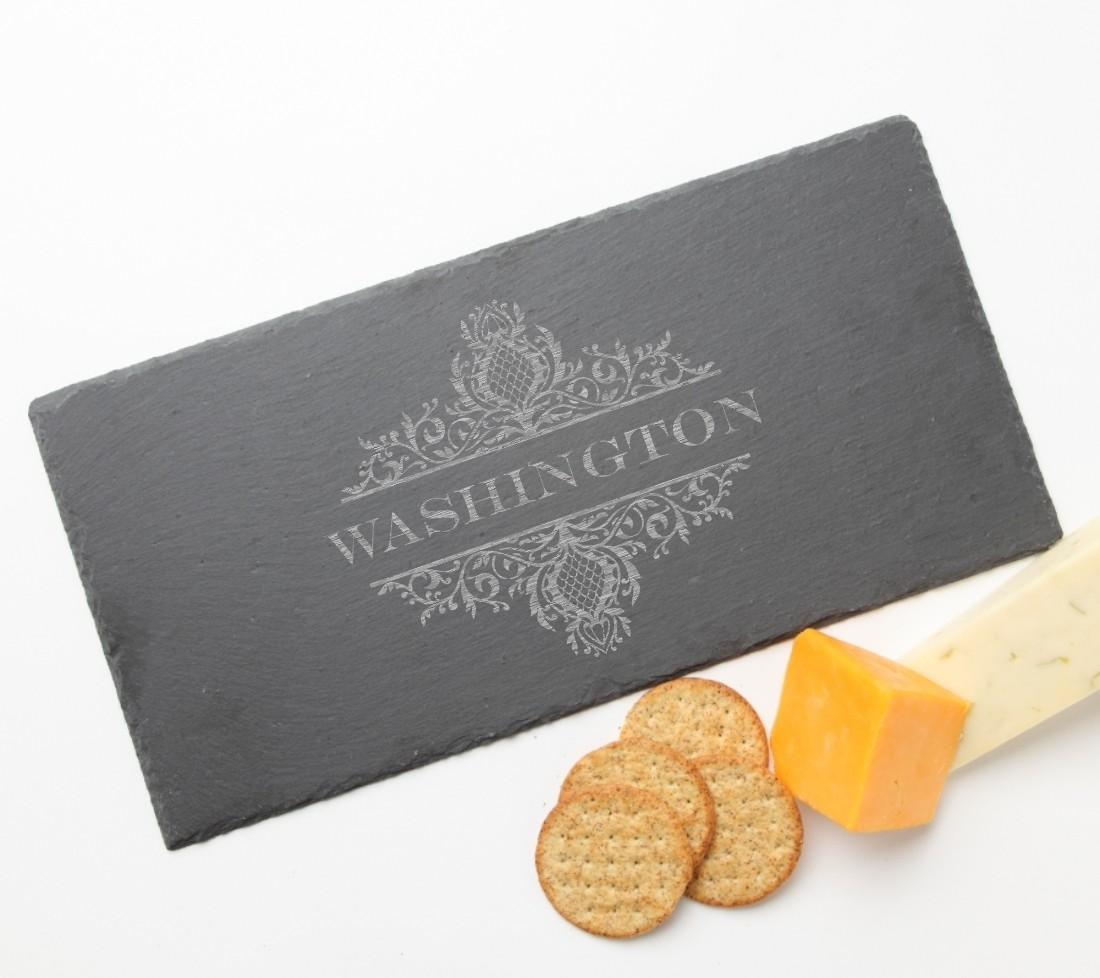 Personalized Slate Cheese Board 15 x 7 DESIGN 36