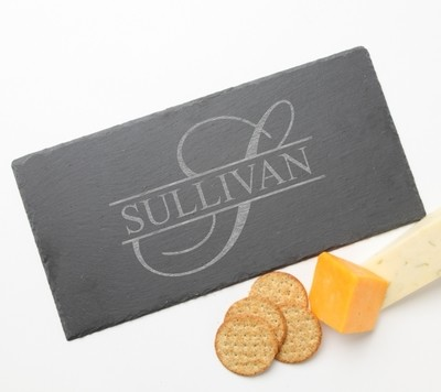 Personalized Slate Cheese Board 15 x 7 DESIGN 25