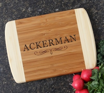 Personalized Cutting Board Custom Engraved 10 x 7 DESIGN 8