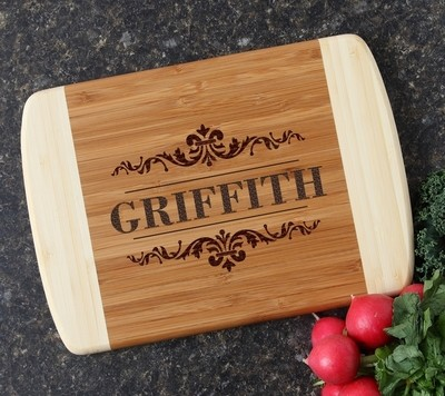Personalized Cutting Board Custom Engraved 10 x 7 DESIGN 16