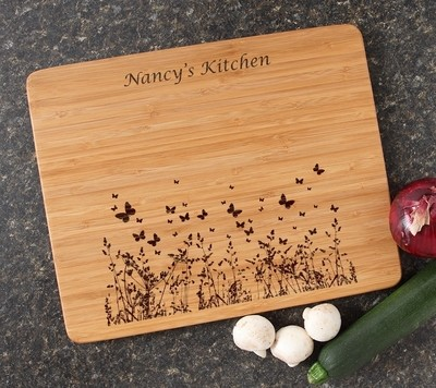 Engraved Bamboo Cutting Board Personalized 15x12 DESIGN 30
