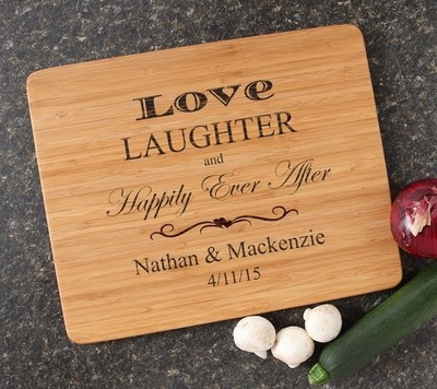 Engraved Bamboo Cutting Board Personalized 15x12 DESIGN 26