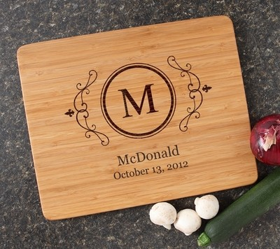 Engraved Bamboo Cutting Board Personalized 15x12 DESIGN 10