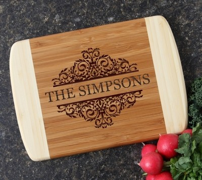 Personalized Cutting Board Custom Engraved 10 x 7 DESIGN 39