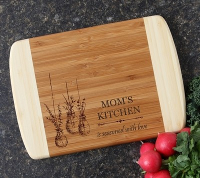 Personalized Cutting Board Custom Engraved 10 x 7 DESIGN 37