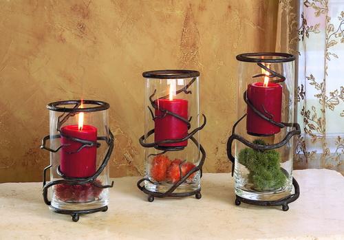 Twig Floating Vine Candleholder- Set of 3