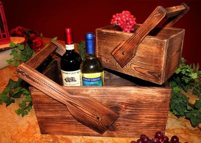 Tuscan Wood Crates - Set of 2 Small/Large