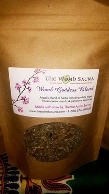 5 Prepacked 4 oz herbs for Resale- Womb Goddess Blend