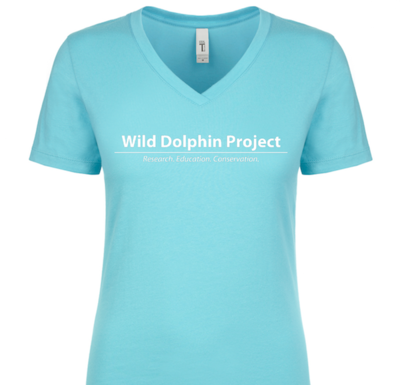 Pair of Two-Toned Dolphins V-neck Tee