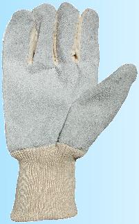 Unisex Leather Cotton Chrome Gardening Gloves