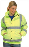 Embroidered Hi-Vis Bomber Safety Jacket