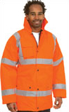 Embroidered Hi-Vis Safety Jacket