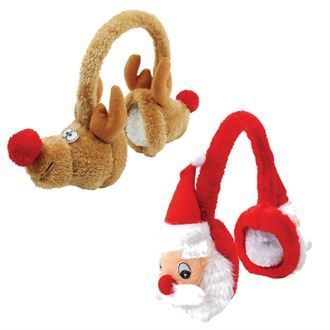 Plush Christmas Earmuffs