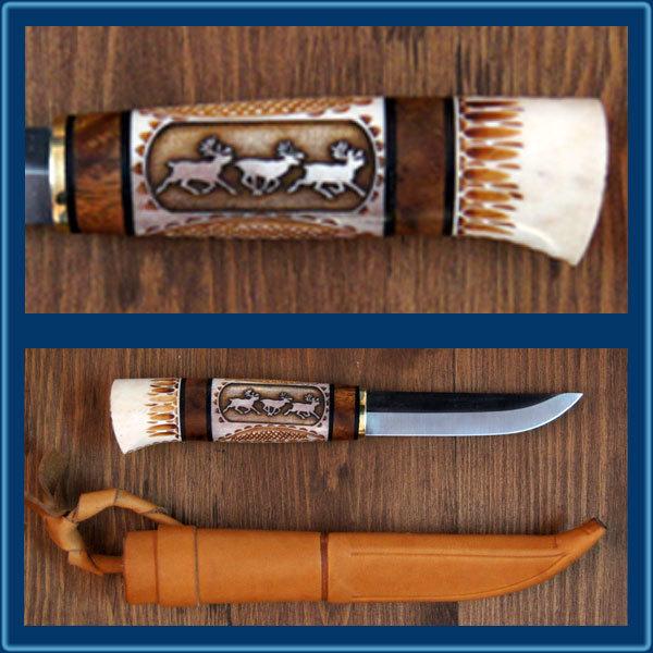Нож финский в чехле