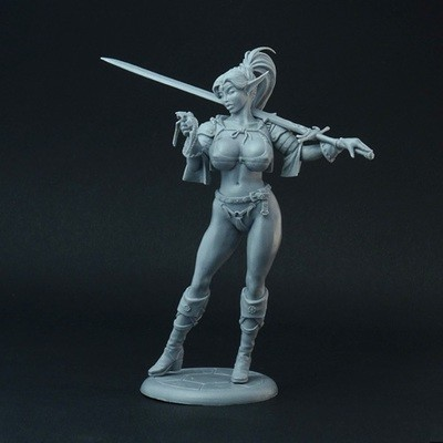 Female Elf Mercenary