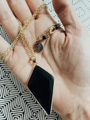 Zari - Onyx Stone Necklace