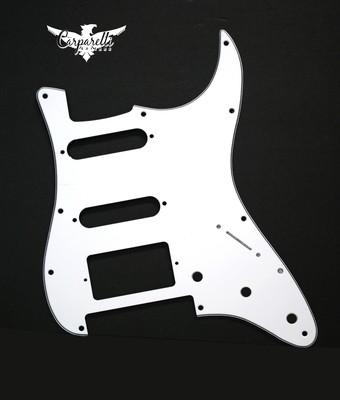 Brio HSS Floyd Rose Cut for Fender Strat 3 Ply White