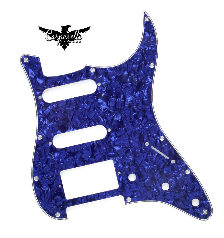 Brio HSS Strat® Pickguard 11 Holes 4 Ply Pearloid Blue