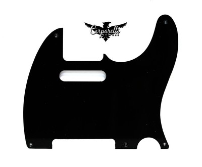 Brio Vintage 5 Hole Tele® Pickguard RH  1 Ply Black
