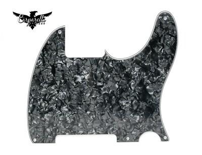 Carparelli Vintage Esquire 5 Hole Tele® Pickguard RH 3 Ply Black Pearloid