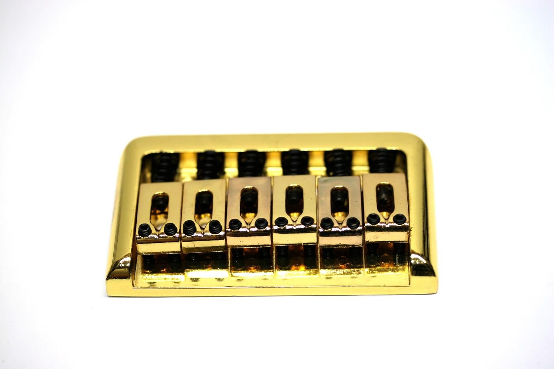Brio 6 String Guitar Bridge Gold