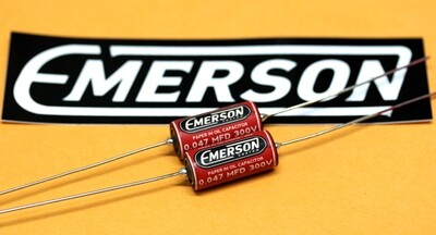 1 x Emerson Paper in Oil Capacitors - 0.047uf 300v (Red) 2019 Classic