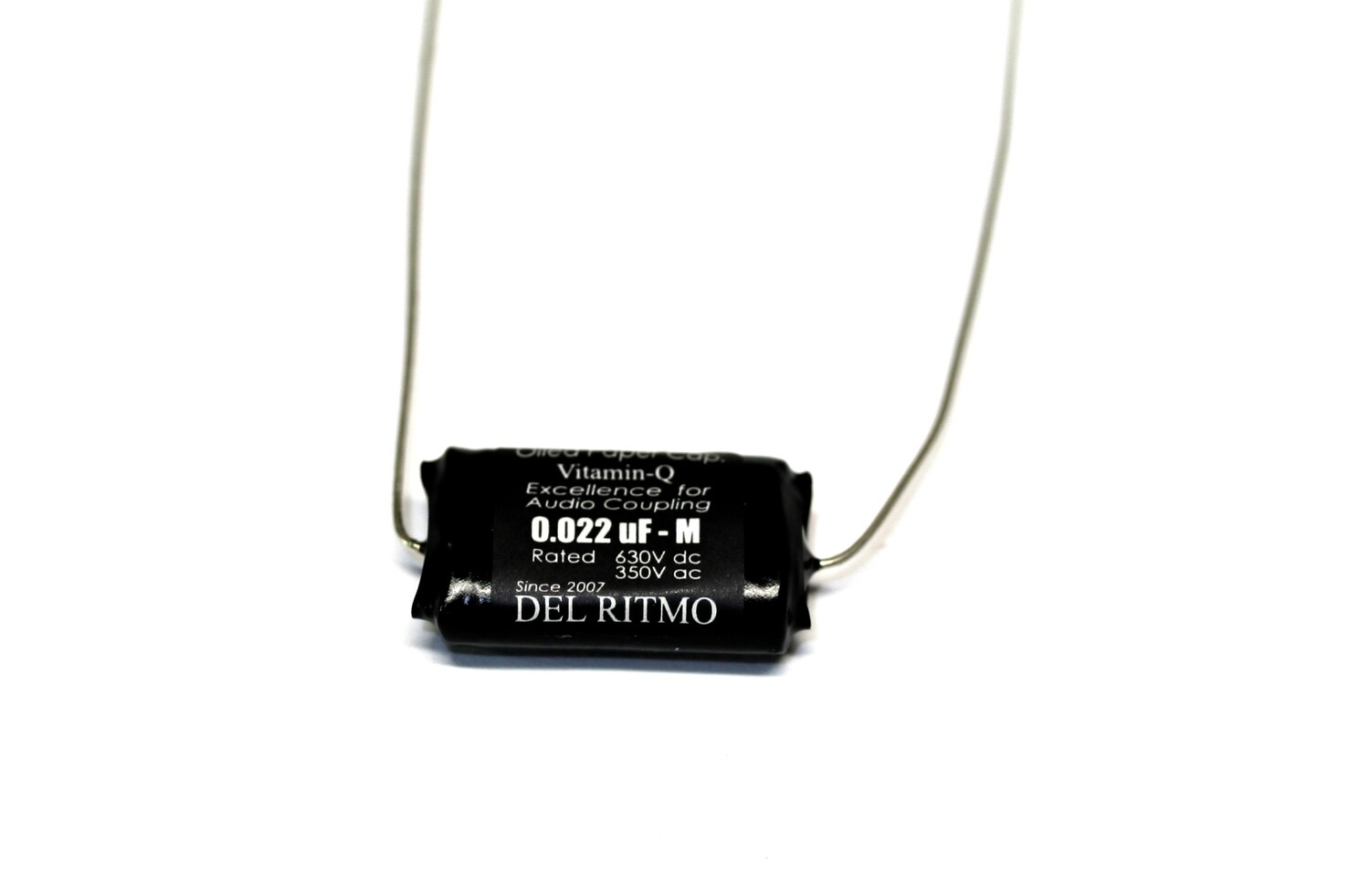 Del Ritmo Vitamin-Q .022uf 630V Oiled Paper Black Candy Tone Capacitor Black