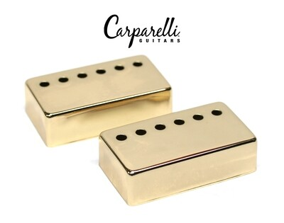 Carparelli Metal Humbucker Cover 52mm Pair Set Gold