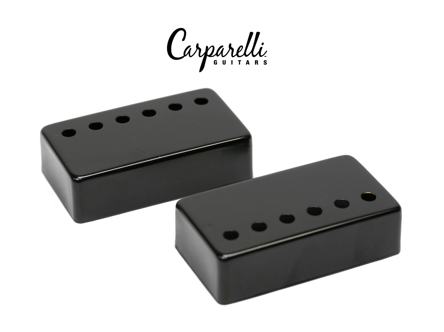 Carparelli Metal Humbucker Cover 52mm Pair Set Black