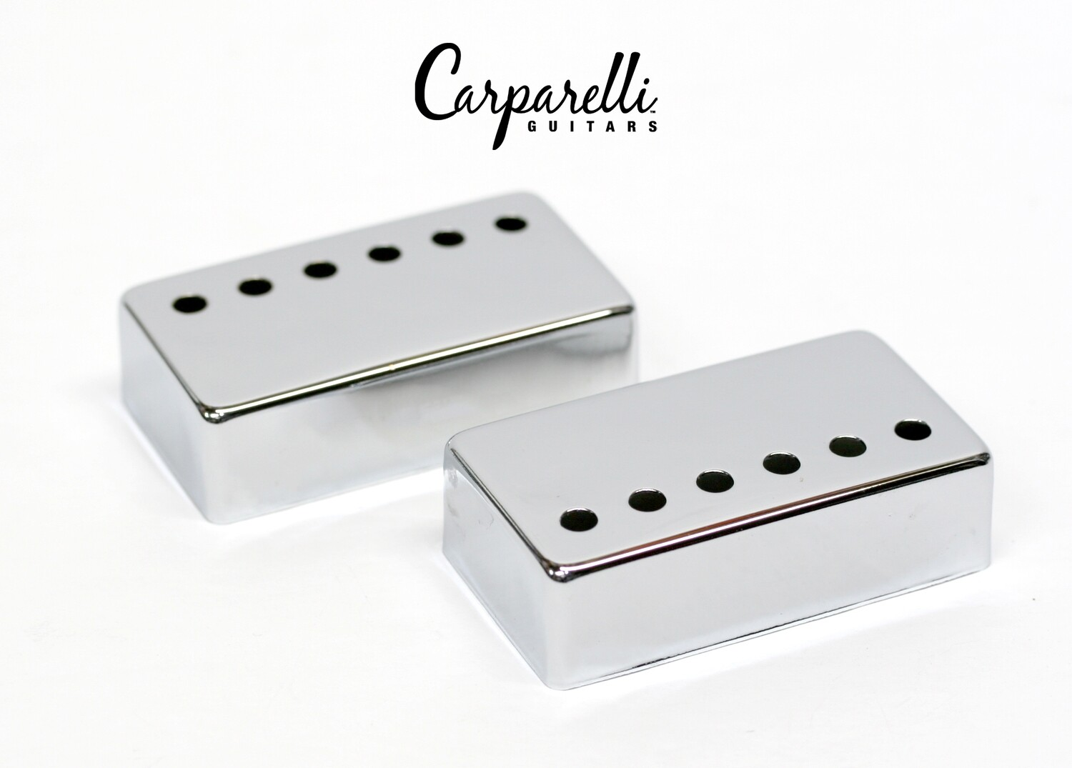 Carparelli Metal Humbucker Cover 52mm Pair Set Chrome