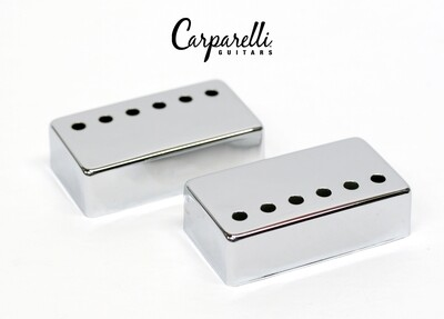 Carparelli Metal Humbucker Cover 50/52mm Pair Set Chrome