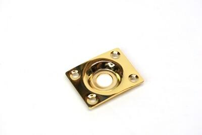 Rectangular jack plate with slight curve. Hole diameter 3/8