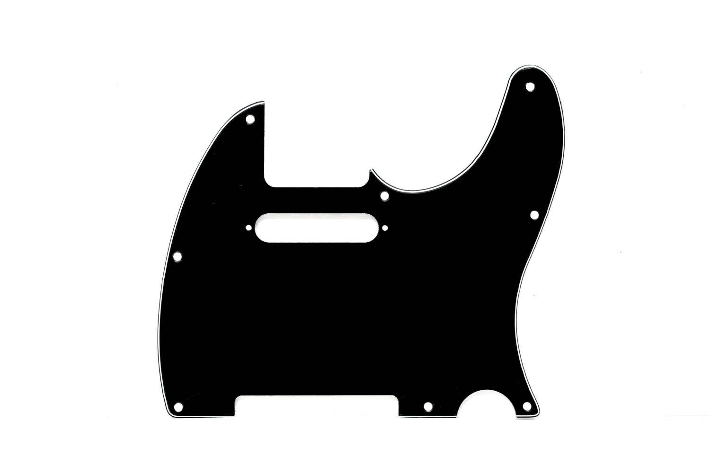 Brio 8 Hole Guitar Tele® Pickguard RH 3 Ply Black