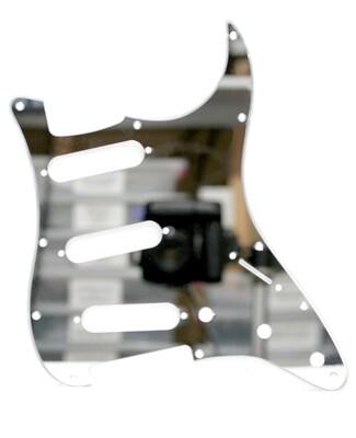 Brio Acrylic Mirror Pickguard for Fender® Strat® Strat® Usa/MIM Standard SSS 11-Hole Silver Mirror