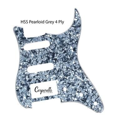 Brio HSS Strat® Pickguard 11 Holes Pearloid Grey