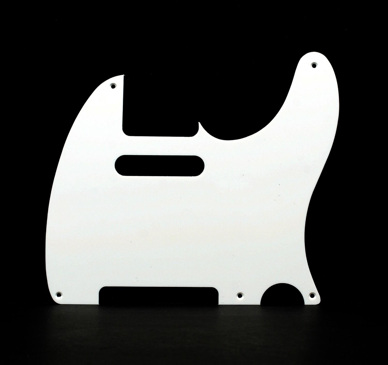 Brio Vintage 5 Hole Tele® Pickguard RH  1 Ply White