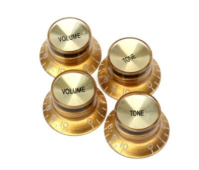 Brio Set of 4 Reflector Knobs Gold w/Gold Top