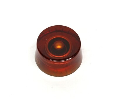 Amber Speed knobs vintage style numbers, fits USA split shaft pots.