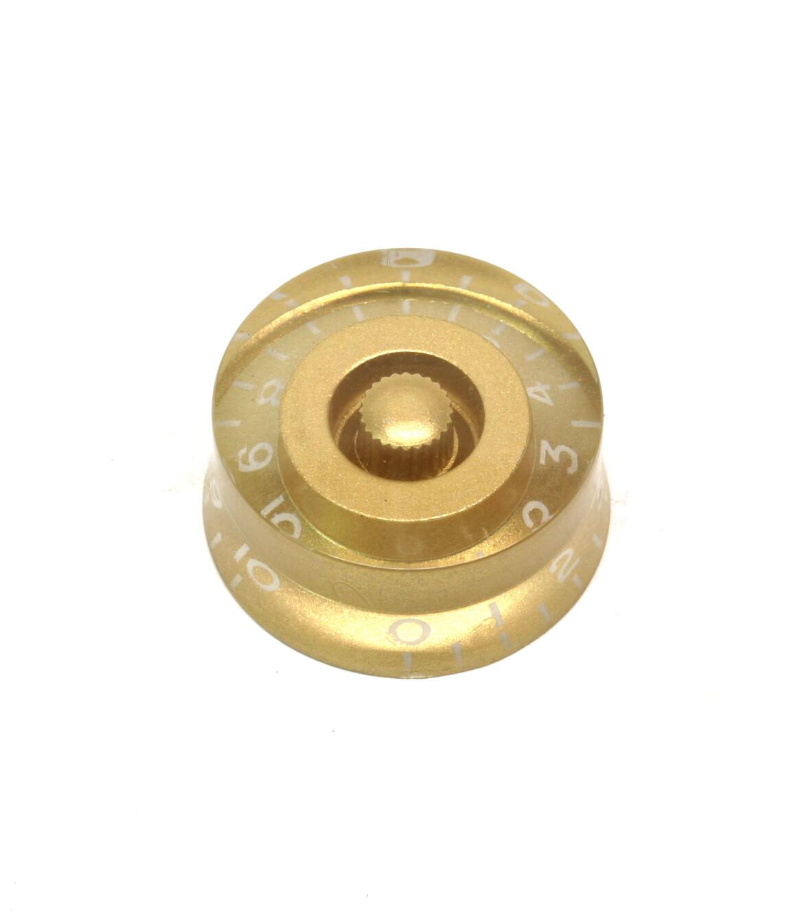 Light Gold Speed knobs vintage style numbers, fits USA split shaft pots.