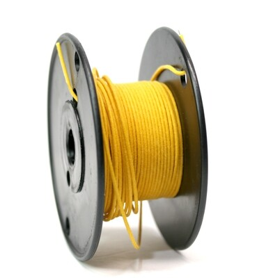50ft Premium USA Vintage Stranded Core Push-back Cloth Wire. Yellow
