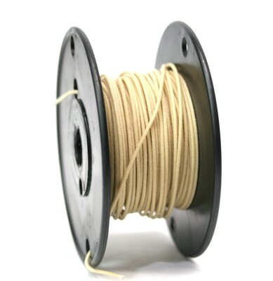 50ft Premium USA Vintage Stranded Core Push-back Cloth Wire. White
