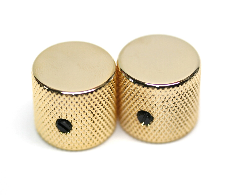 Gotoh Metal Barrel Knobs USA Solid Shaft Gold