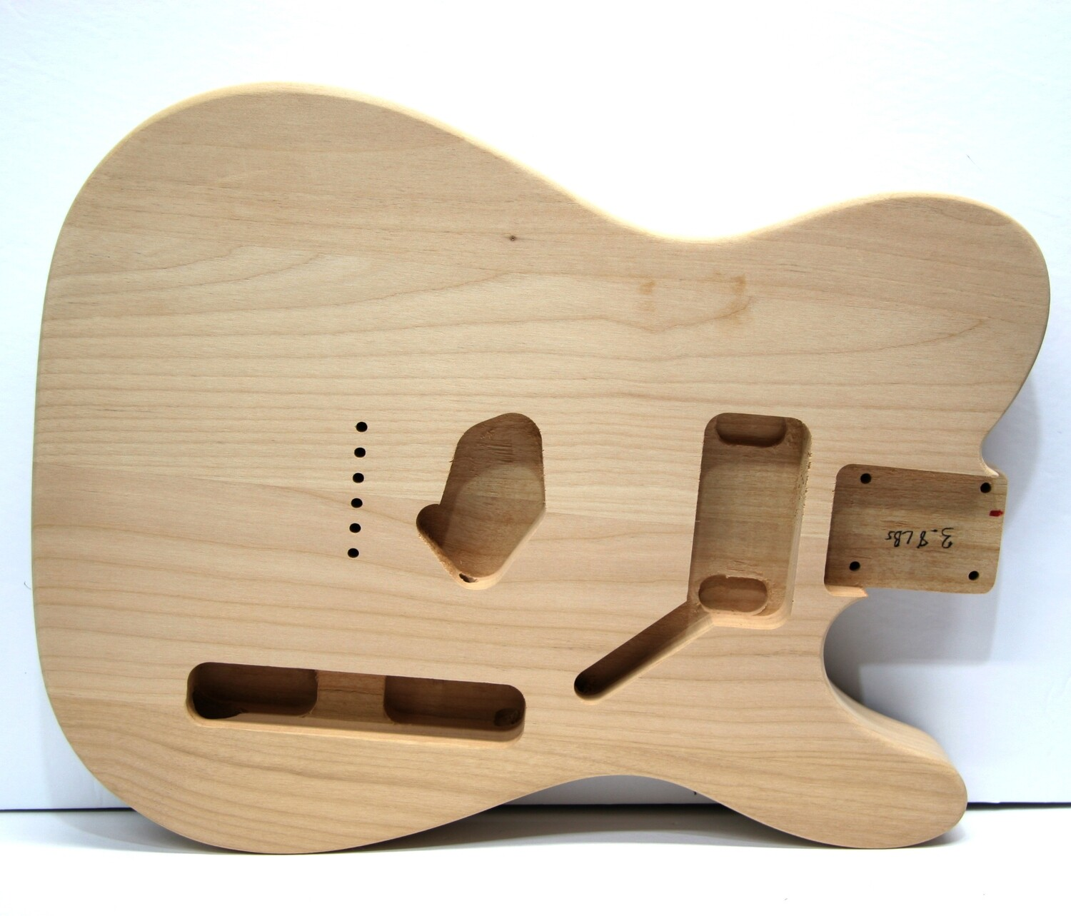 Brio Tele Body HS Config, Unpainted 3 PC Alder