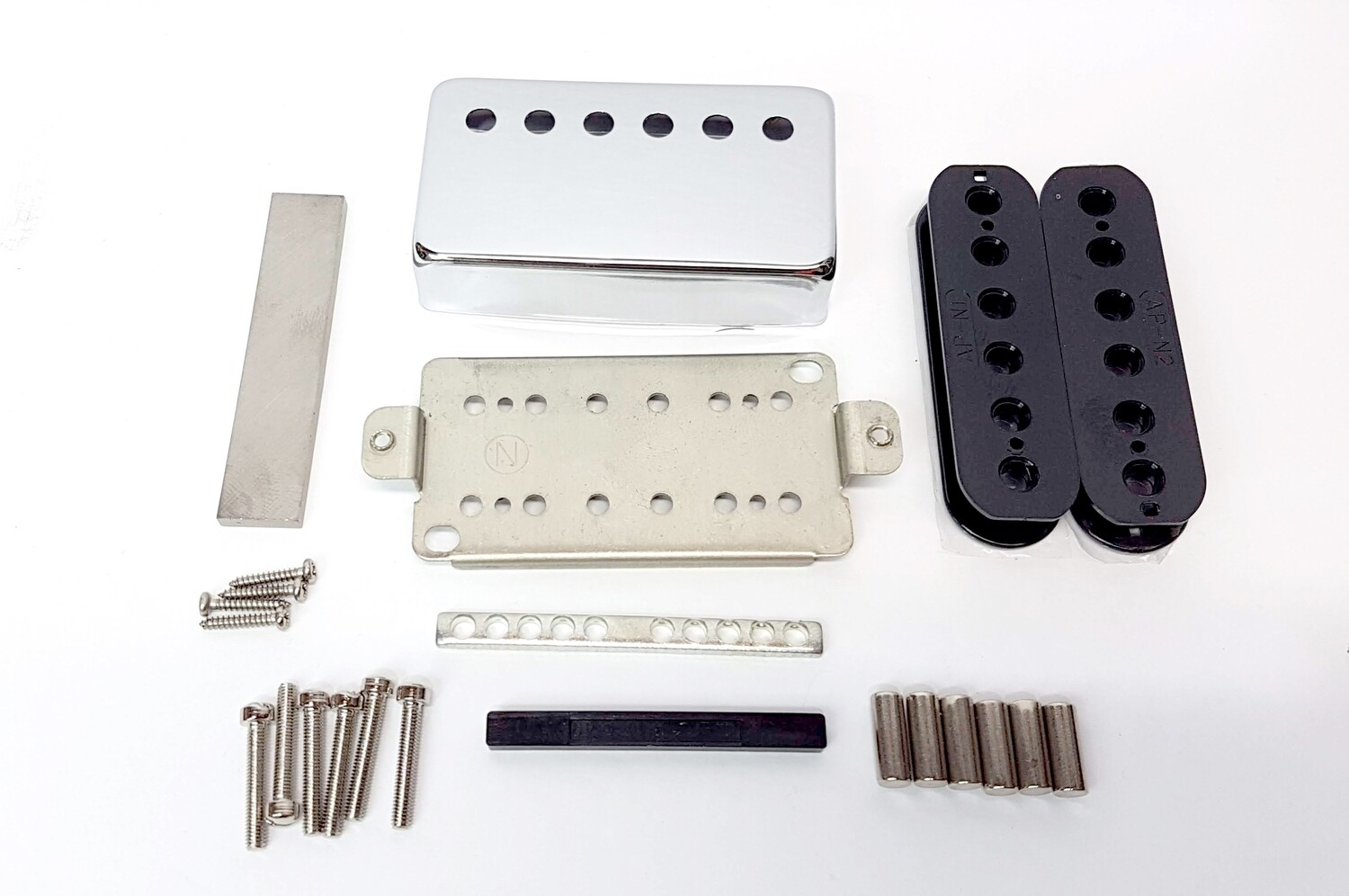 Pickup Kit - Nickel Silver Cover & Baseplate 50mm Humbucker Alnico 5